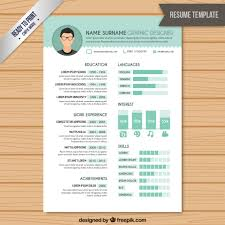 Graphic Resume Templates Fascinating Resume Graphic Designer Template Vector Free Download