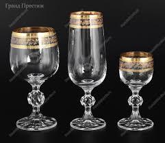 <b>Набор</b> фужеров (<b>бокалов</b>) из богемского стекла <b>18</b> предметов