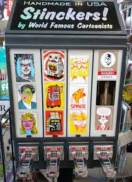 Sticker Vending Machines Interesting Stinckers Decals Designed By Artists Sold In Vending Machines