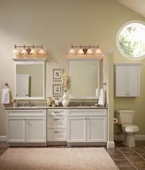 white bathroom cabinets. Impressive Design Ideas Using Rectangle White Toilets And Rectangular MIrrors Also With Bathroom Cabinets