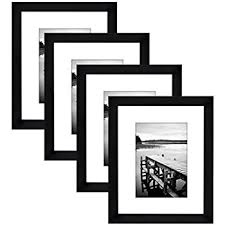 black picture frame. Brilliant Frame Americanflat 4 Pack  8x10 Black Picture Frames Made To Display Pictures  5x7 Mats In Frame