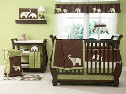 green and brown elephant baby room. bedroom, baby crib bedding for girls green and brown set with elephant imagery: stylish girl sets room pinterest