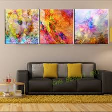 Modern Art Paintings For Living Room 3 Piece Abstract Psychedelic Art Painting Canvas Hd Prints Wall