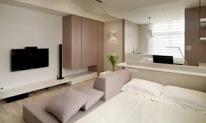 Apartment:Idea Of Small Studio Apartment With Homy Master Bed With Storage  Combine Classy Furniture