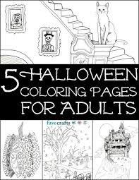 5 Free Halloween Coloring Pages For Adults Pdf Favecraftscom