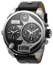 mens oversized diesel watches diesel dz7125 men s sba oversized chronograph mr daddy black leather watch 295