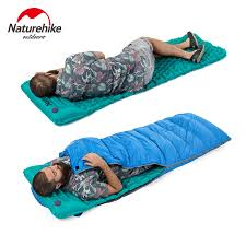 air mattress sleeping bag. Perfect Sleeping Aliexpresscom  Buy Naturehike Outdoor Inflatable Cushion Sleeping Bag Mat  Fast Filling Air Moistureproof Camping With Pillow Pad 460g From  Intended Mattress I