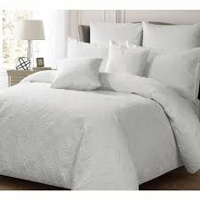 Georges Ashton Quilted Queen Size Quilt Cover Set   White - In 2 Linen & Georges Ashton Quilted Queen Size Quilt Cover Set   White Adamdwight.com