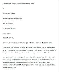 Pattern Of Reference Letter 7 Sample Manager Reference Letters Free Sample Example