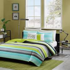 com reversible modern teal lime green grey coverlet bedding set with pillows includes cross scented candle tart twin twin xl home kitchen