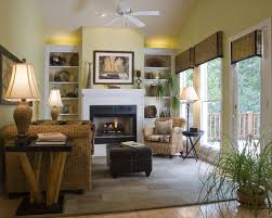 Open Plan Living Room Decorating Cool Open Plan Living Area Interior Design With Greenery Indoor