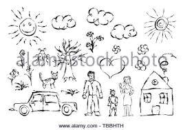 Infantilifamigliabambinodisegno Disegno A Matita Foto Immagine