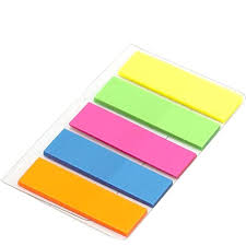 Sepal Sticky Notes, Mini Text Highlighter <b>Strips</b> 2 Sets Neon <b>Colored</b> ...