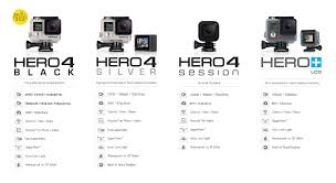 Gopro 4 Comparison Chart Gopro Hero 4 Session Adventure 4 Gopro Camera Camera