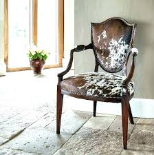 cowhide dining chairs cow hide accent room ideas retro chair simp