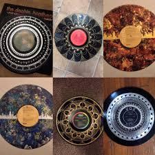 I paint mandalas on vinyl records