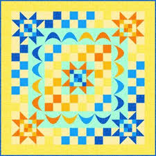 """Quilt Inspiration: Free pattern day: Sun and solstice quilts & Matrix wall hanging, 37 x 37"""", free pattern by Gina Gempesaw for Quilting  Treasures (PDF download) Adamdwight.com"""