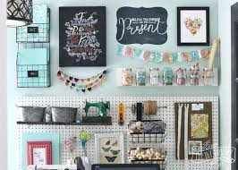 Pegboard storage bins Bin Cabinet Pegboard Storage Beautiful Colorful Craft Room Office Wall With Pegboard For Storage Baskets Pegboard Storage Pegboard Storage Pinterest Pegboard Storage White Pegboard With Clips Hooks Straps And Shelves