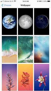 Apple's Wallpaper Selection in IOS 11 ...