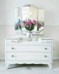 vintage style furniture. White Dressing Table Chest Of Drawers With Mirror Shabby Chic Vintage Style And Furniture