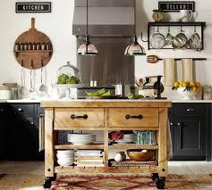 pottery barn kitchen island cart