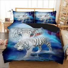 tiger bedding set twin full queen king au single uk double size animal duvet cover pillow cases 3d bed linen set fl bedding sets duvet covers from