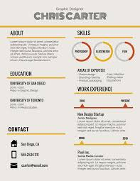 Resume Header Template Headings Font Size Footer Examples Name