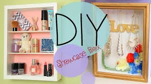 diy showcase shadowbox jewelry shelf and display