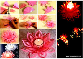 How To Make A Lotus Flower Out Of Paper Creative Diy Paper Lotus Candlestick Project Video Included