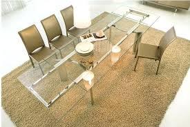 1 contemporary furniture italian dining furniture expandable glass dining table ikea glivarp extendable glass dining table