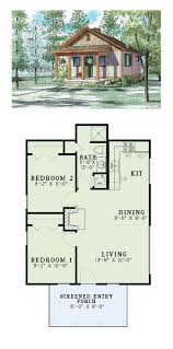 Small 3 Bedroom Cabin Plans Narrow Lot Home Plan 67535 Total Living Area 860 Sq Ft 2