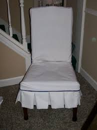 elegant furniture dining room skirted parson chairs slipcover in white for dining appealing white parson
