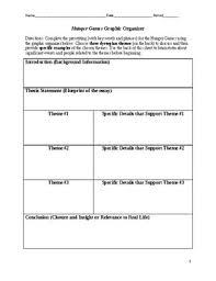 hunger games graphic organizer for theme analysis essay tpt hunger games graphic organizer for theme analysis essay