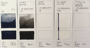 M Graham Color Chart Jane Blundell Artist M Graham Watercolours
