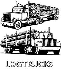 logging coloring pages log truck clipart clipart kid logging truck coloring page in