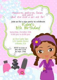 Printable Spa Party Invitation DIY invite spa manicure pedicure.