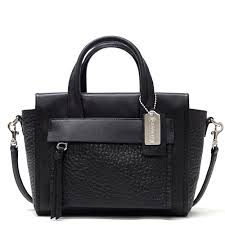 Coach  COACH Bleecker mini Riley carryall Inn leather 2-Way shoulder bag  outlet F27923 SV BK (black)