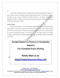 sample on finance in hospitality industry by instant essay writing sample report on finance in hospitality industry for complete essay writing kindly mail us at help instantessaywriting com 19