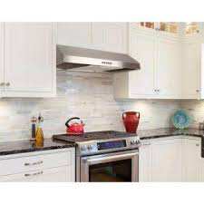 ductless range hood under cabinet. Under Cabinet Range Hood In Stainless Steel With LED Light Inside Ductless The Home Depot