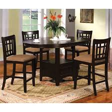 Furniture of America Toureille 5Piece Expandable RoundOval Counter Height  Set  Overstock