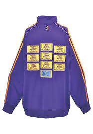 Searching for lakers warm up jacket? Lot Detail 2007 08 Los Angeles Lakers Tbtc Player Worn Warmup Championship Banner Patch Jacket Attributed To Kobe Bryant