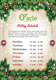 Aesthetic Holiday Holiday Schedule Oracle Aesthetic Clinic