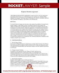 Agreement Letters Delectable Retention Letter Sample Ibovjonathandedecker
