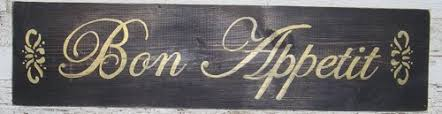 Bon Appetit Wall Decor Plaques Signs Kitchen Bon Appetit Wood Sign French Shabby Black Dog Art Http 39