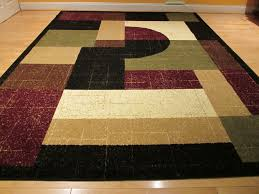 area rugs contemporary modern square black grey burgundy abstract