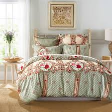 classical european rose flower fl grid plaids paern bedding duvet cover set with pillow case sham uk us size duvet sizes double bedding from bright689