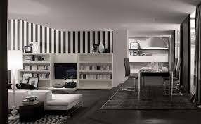 Modern Living Room For Apartment Apartment Beautiful Decoration With Cream Leather Sectional Sofa