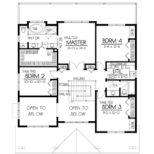 square house plans. Craftsman Style House Plan - 5 Beds 3.00 Baths 2615 Sq/Ft #100 Square Plans P