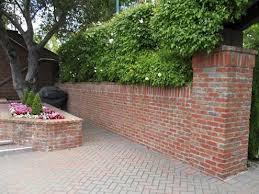 veneer brick wall backyard fences