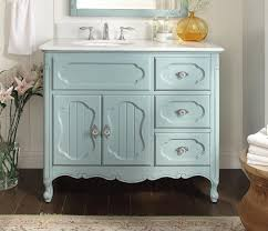 42 inch Bathroom Vanity Cottage Beadboard Style Light Blue Color ...